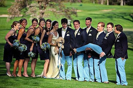 A wedding in blue jeans