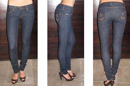 Jet Anchor Skinny Jeans in Dark Clean