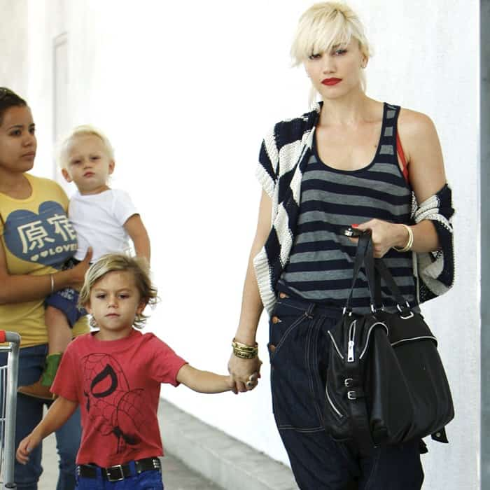 Gwen Stefani was spotted shopping for party supplies with her boys last July 4