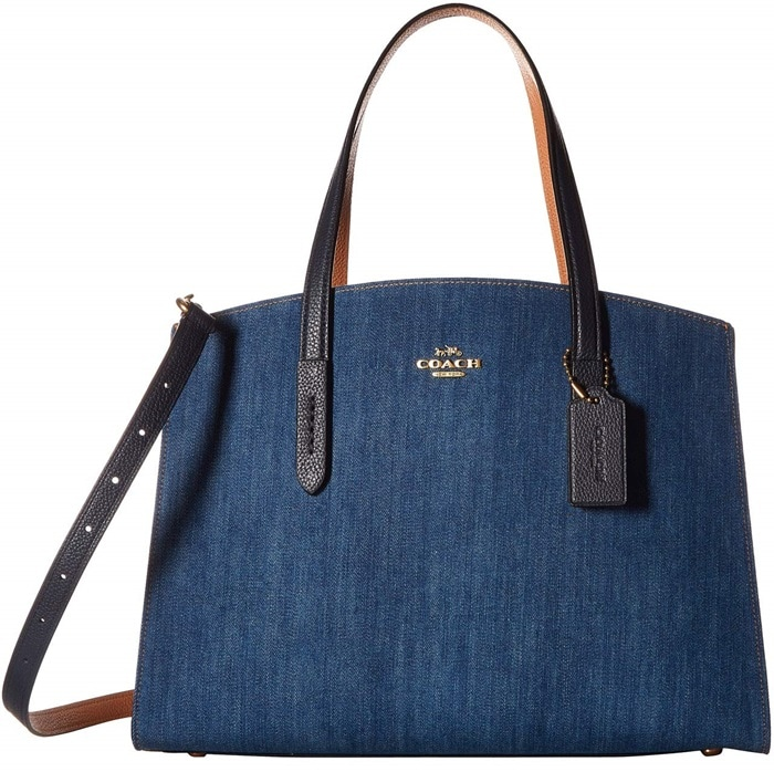 Coach Denim and Leather Blocked Charlie Carryall