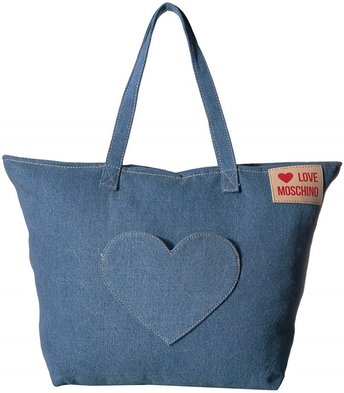 LOVE Moschino Denim Heart Tote