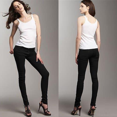 Current/Elliott High-Waist Skinny Jeans in Jet Black