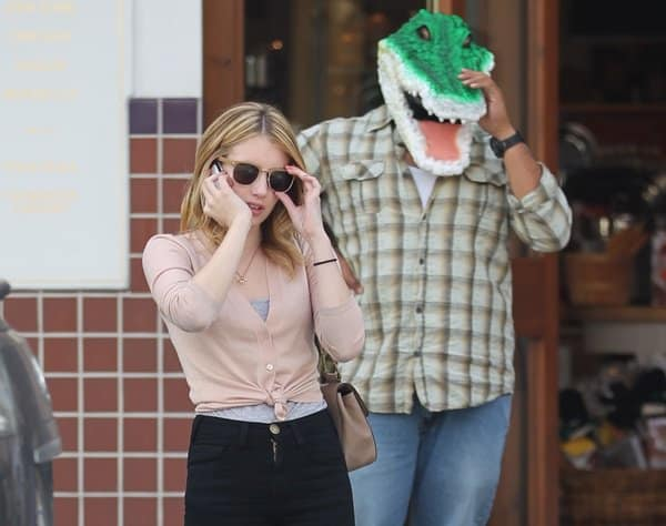 Emma Roberts chatting on the phone and running some errands in Beverly Hills on October 29, 2010