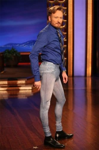 Conan O' Brien rockin' a pair of men's jeggings