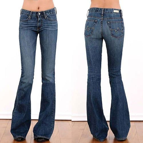 AG Adriano Goldschmied Farrah Bell Bottom Jeans in 6 Years Wash