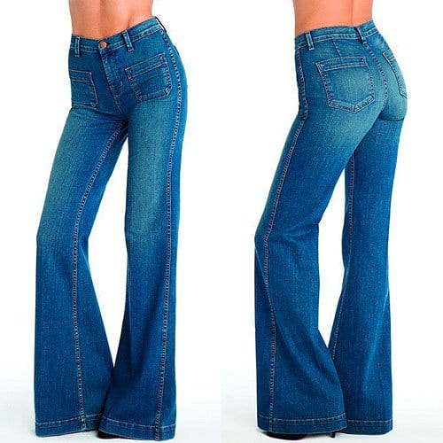 J Brand Bette 70's Wide-Leg Jeans in Wonderama