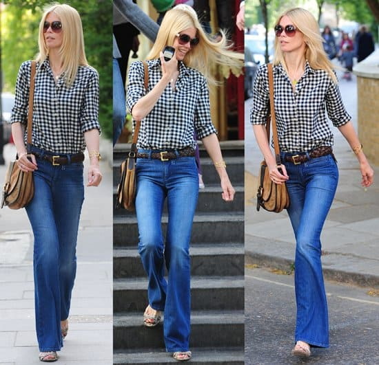 Claudia Schiffer on a school run in London, England on May 4, 2011