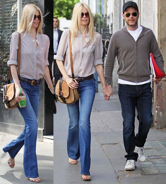 Claudia Schiffer and husband Matthew Vaughn taking a stroll together in Notting Hill, London, England on May 2, 2011