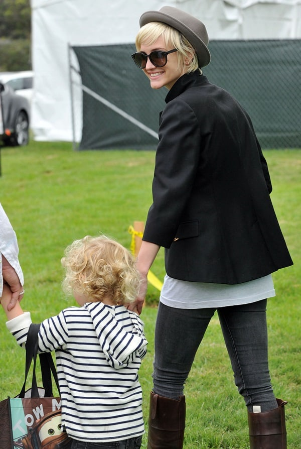 "Ashlee Simpson with her son Bronx Wentz at the Elizabeth Glaser Pediatric AIDS Foundation's ""A Time for Heroes Event"""