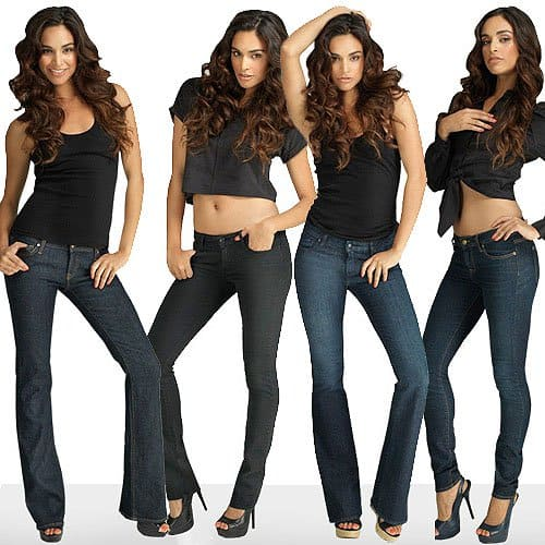 The JustFabulous Debut Denim Collection: Basic Boot, Super Straight, Fabulous Flare, and Slender Cigarette