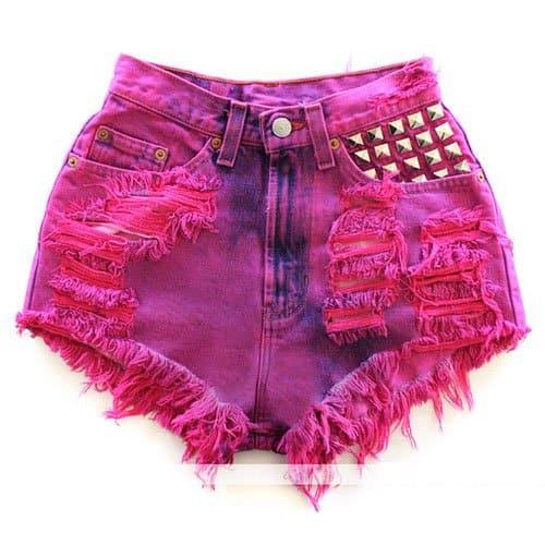 Runwaydreamz Vintage Pink/Purple Studded Short