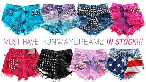Runwaydreamz denim shorts