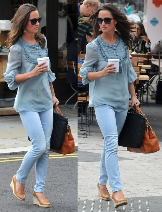 Pippa Middleton enjoying some down time and running some errands in the Chelsea district of London, England on September 2, 2011