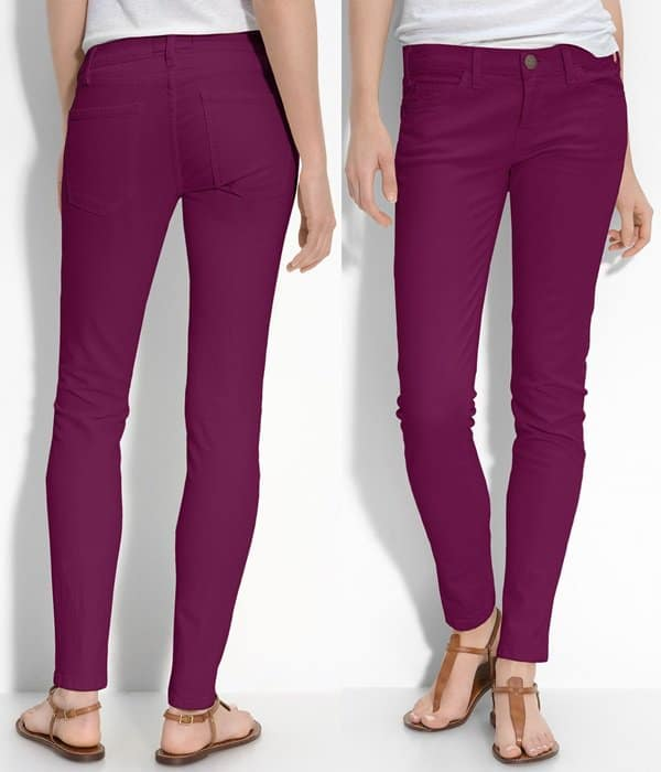 Current/Elliott Skinny Stretch Ankle Jeans (Purple Wash)