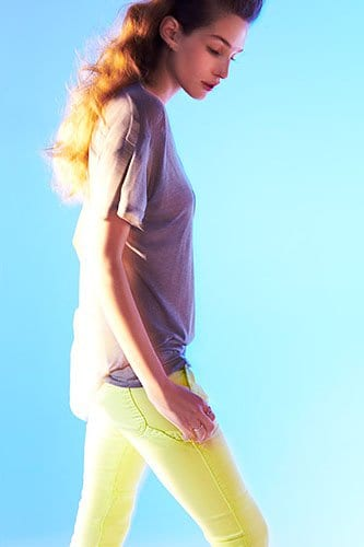 TEXTILE Elizabeth and James Crosby Skinny Jeans in Sunny Lime