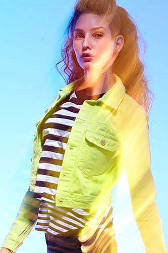 TEXTILE Elizabeth and James Sid Jacket in Sunny Lime