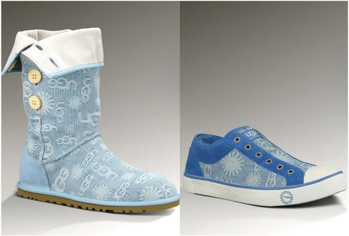 UGG denim boots and sneakers