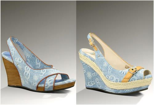 UGG denim wedge sandals