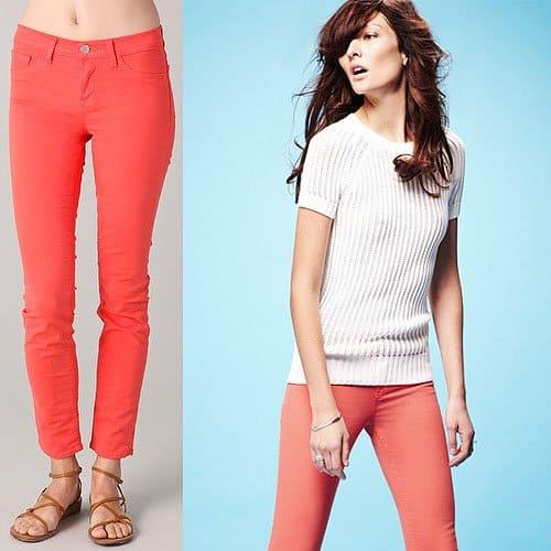 J Brand 811 Ankle Skinny Jeans in Tangerine