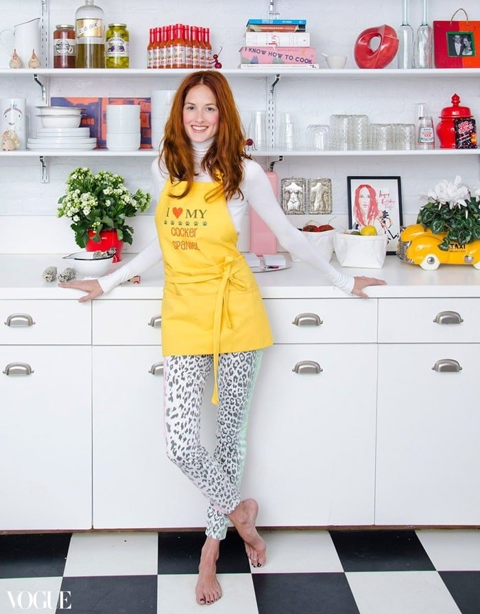 Taylor Tomasi Hill showing off her Chelsea loft