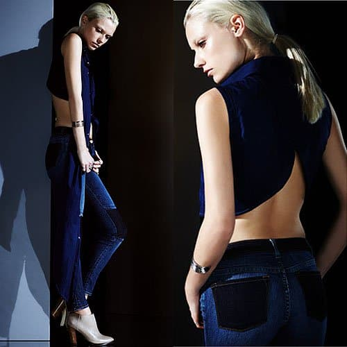 J Brand 811 ankle skinny patch jeans