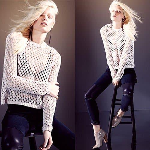 J Brand pieced leather capri jeans