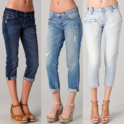 DO: more form-fitting boyfriend jeans with narrower leg cuffs
