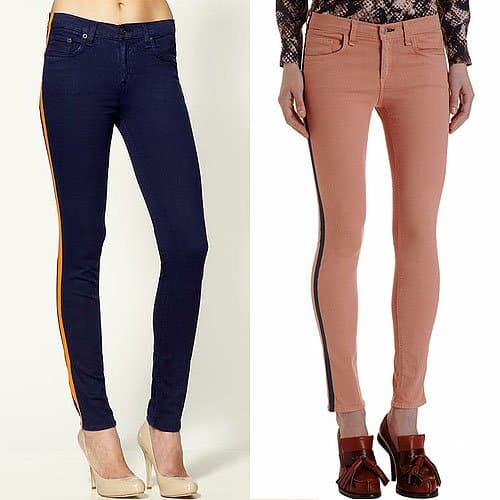Rag & Bone Tuxedo Skinny Jeans</a> in Iris and Salmon