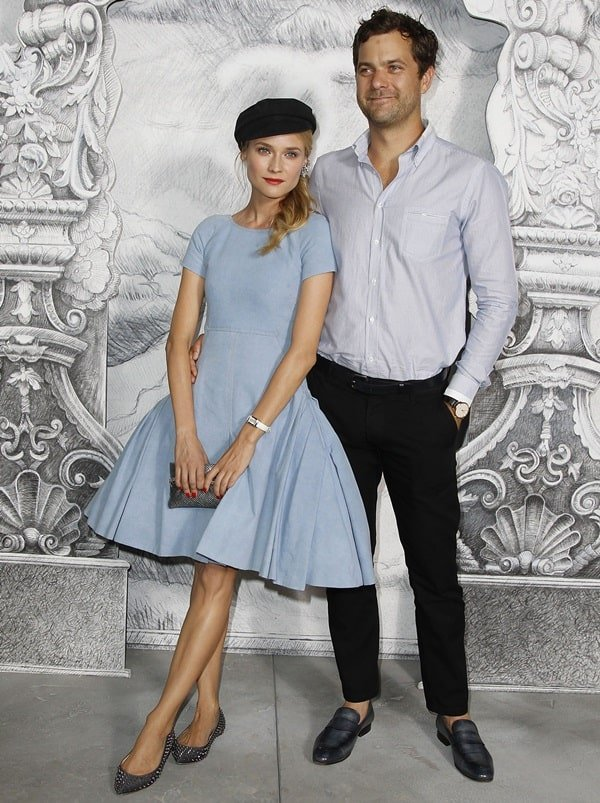 Diane Kruger and Joshua Jackson at the Paris Fashion Week Fall/Winter 2013 (Chanel) in Paris on July 3, 2012