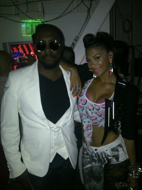Will.i.am posted this picture of himself and Nicole Scherzinger on Twitter