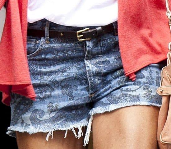 "Stacy Keibler's Citizens of Humanity ""Chloe"" high-waist cutoff denim shorts"