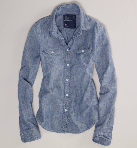 Chambray Western Shirt from American Eagle Outfitters