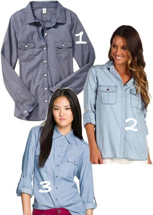 3 affordable chambray shirts