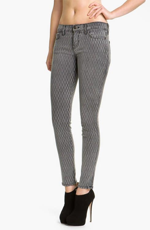 Current/Elliot Print Stretch Skinny Jeans in Fishnet