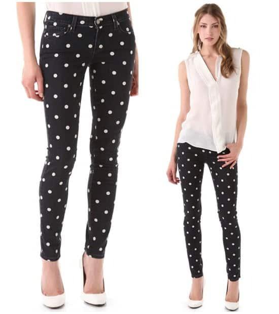Paige Denim Polka-Dot Verdugo Skinny Jeans