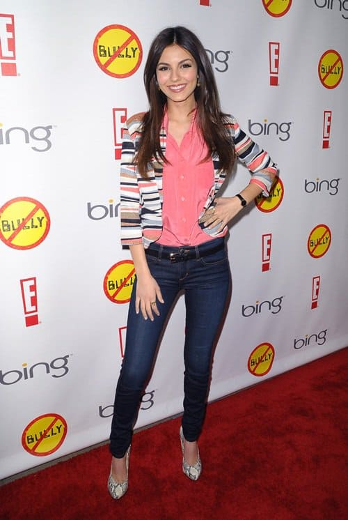 Victoria Justice at the Los Angeles premiere of 'Bully' held at the Chinese 6 Theatres in Hollywood, California on March 26, 2012