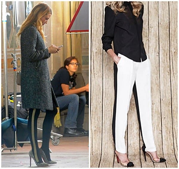 Blake Lively in contrasting jeans
