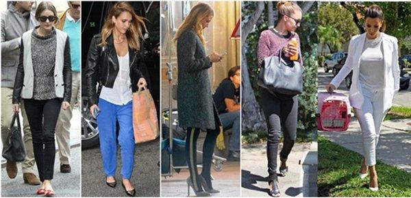 Celebrities wearing on-trend bottoms this season