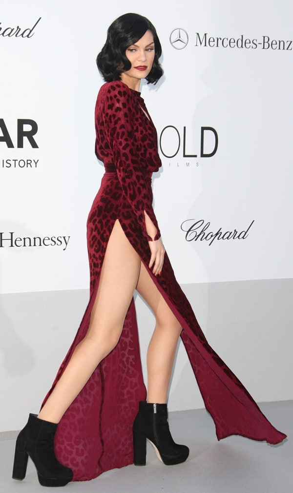 English singer/songwriter Jessie J arrives at 2012 amfAR's Cinema Against AIDS during the 65th Annual Cannes Film Festival