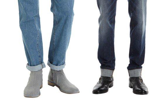 Maison Martin Margiela Straight Leg Jean / Dolce & Gabbana Skinny Jean