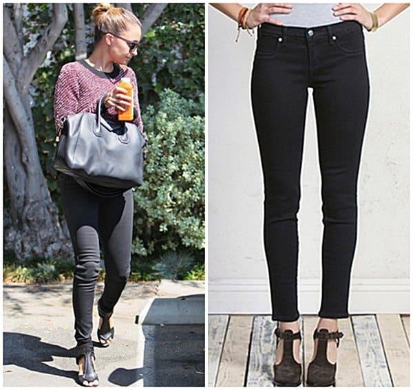 Nicole Richie Wearing Black Skinny Jeans