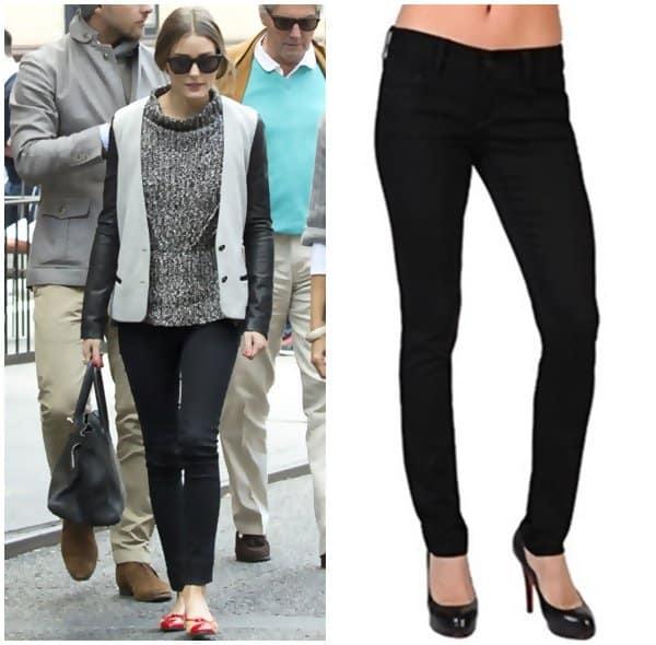 Olivia Palermo in Black Skinny Jeans