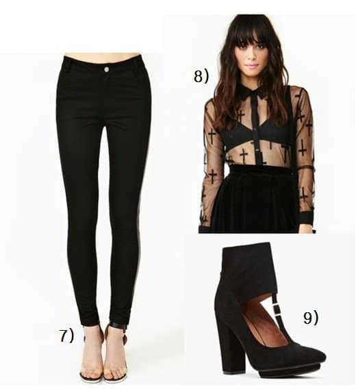 Dark glamour pieces from Nasty Gal