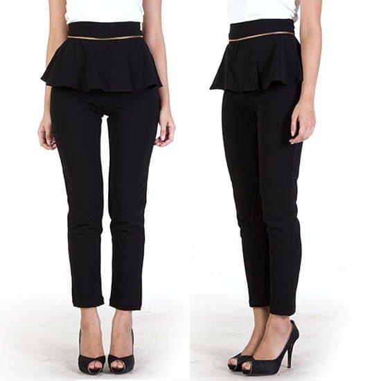 Alexaalexa Detachable Peplum Pants