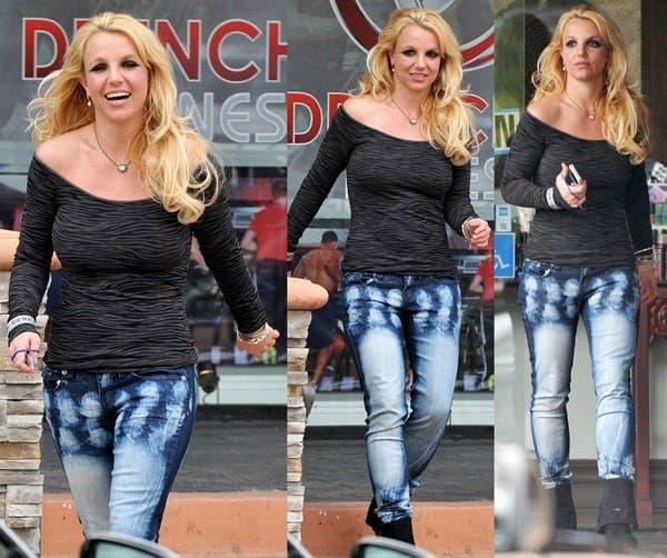 Britney Spears seen leaving a spa in Westlake Village