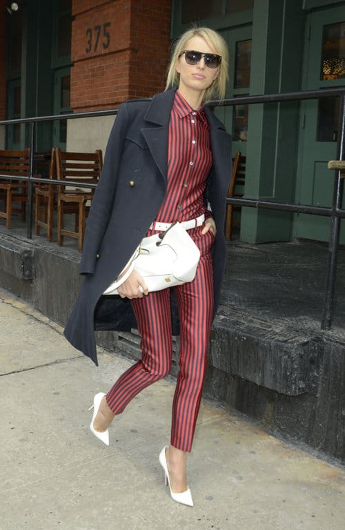 Model Karolina Kurkova wearing a stylish outfit