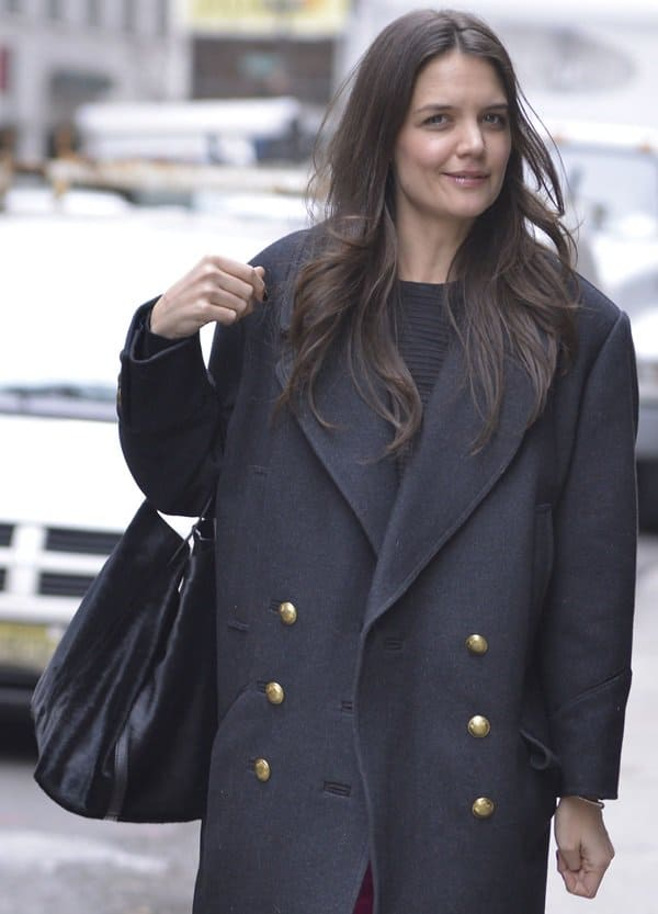 Katie Holmes out and about