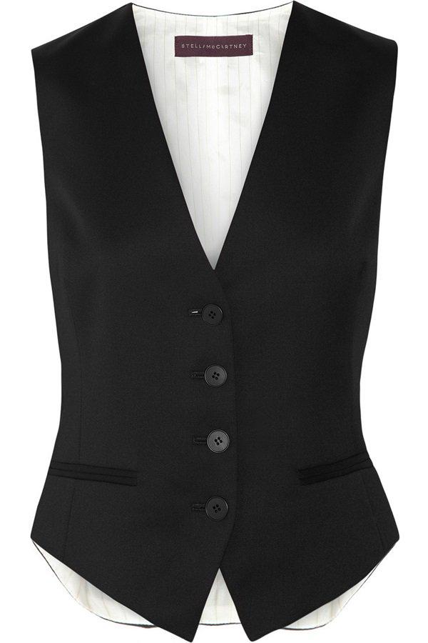 "Stella McCartney ""Daisy"" Wool Twill Vest"