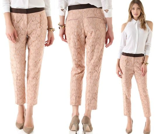 By Malene Birger Glauco Lace Pants in Desert Rose
