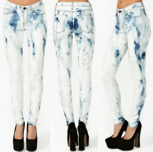 Bleached Out Skinny Jeans